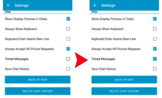 Pesan Rahasia di BBM Android