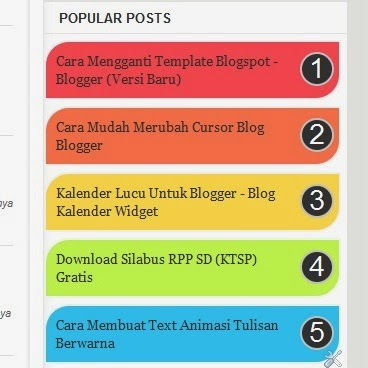 Cara Membuat Popular Post Warna-Warni