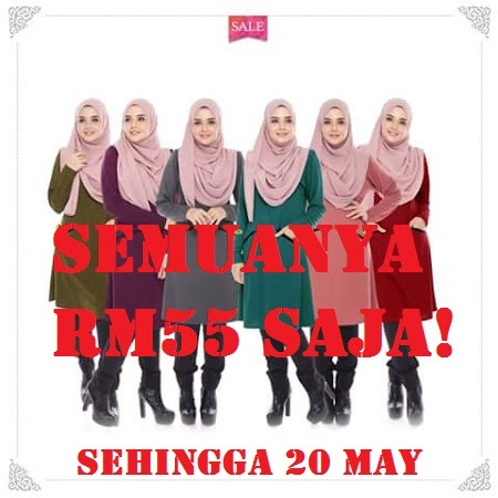 SALE!!!! Jom dapatkan Blouse Berkualiti PAda Harga Sale RM55 Je. Untuk Masa YAng Terhad Saja!!