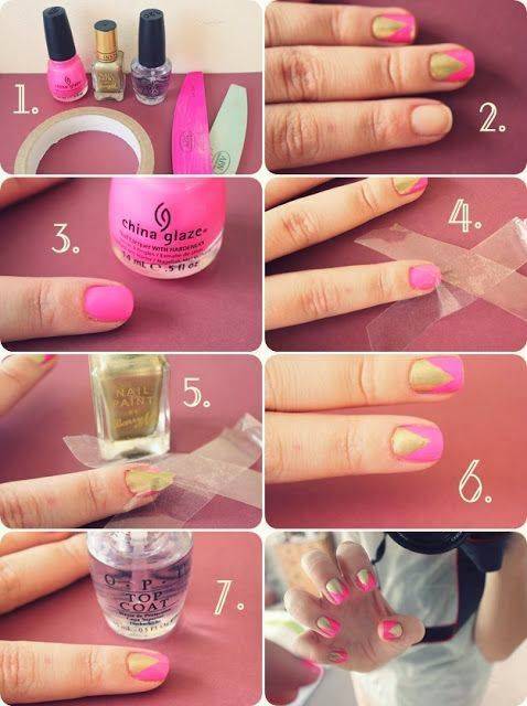 Nails Art Step By Step Tutorial #13..
