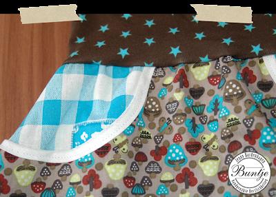 Pumphose Jungs Jungen Sarouelhose türkis Pilze Taschen Bündchen Dschinni nähen