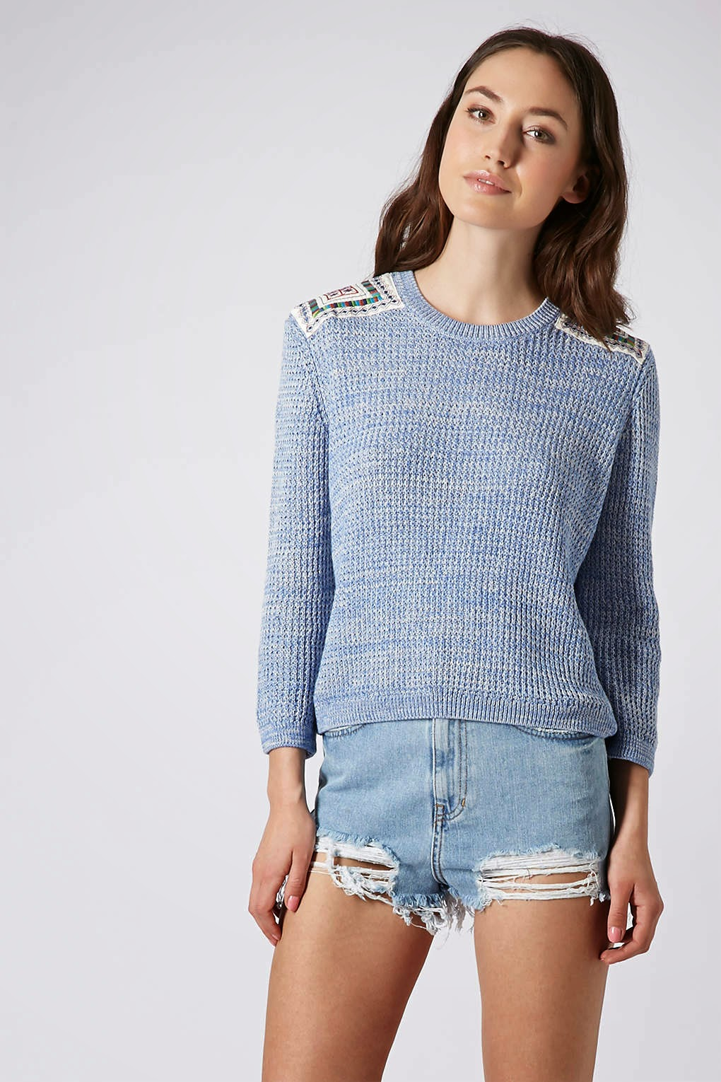 topshop blue jumper