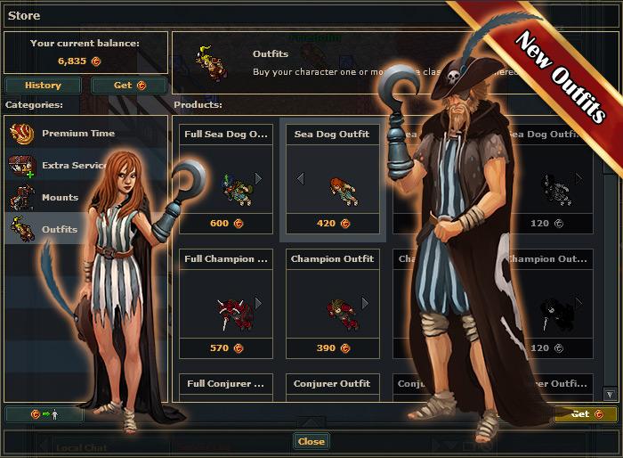 Sea Dog: nova outfit em Tibia!