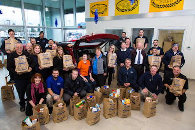 Fill-A-Bag Food Drive for Snow Cap at Gresham Ford