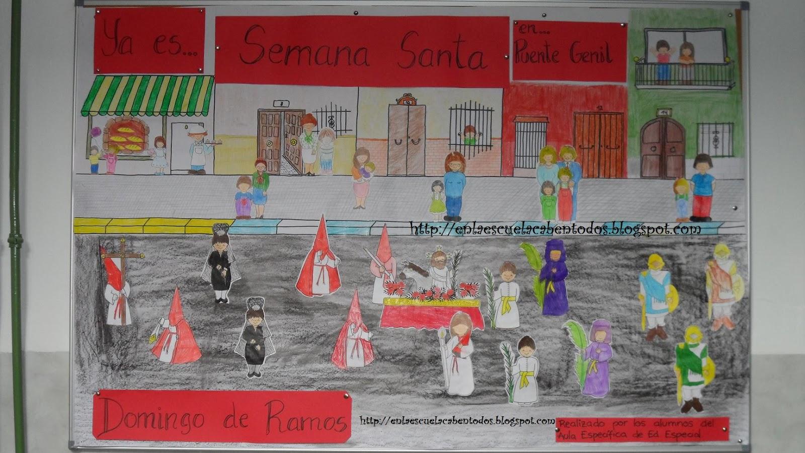 En la escuela caben tod s ya es semana santa en pte for Diario mural en ingles