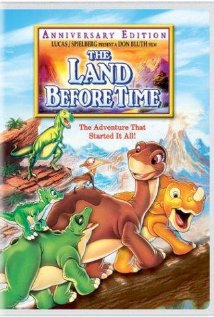 Land Before Time DVD cover 1988 animatedfilmreviews.filminspector.com
