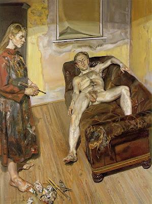 Oil on Canvas,portrait painting, by, Portrait artist, Lucian Freud