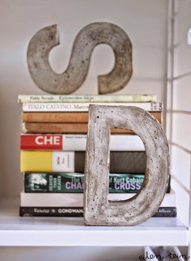 Como Hacer Letras de Cemento, Accesorios de Estilo Industrial