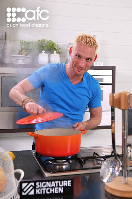 Asian Food Channel cooking show, Celebrity Chef Emmanuel Stroobant, International Gourmet Cuisine