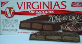 Turrones Virginia Sin azucar