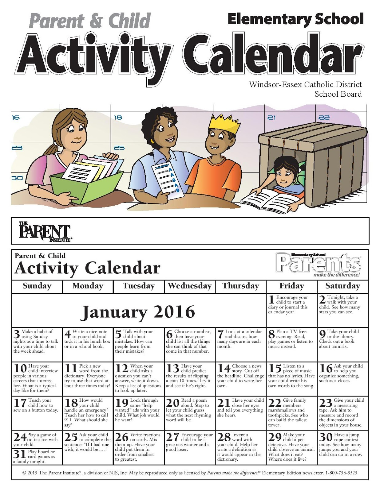 Calendar Qut : News and events parents make a difference january newsletter
