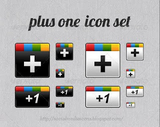 Google plus one Icons free
