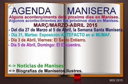 AGENDA MANISERA, SEMANA 14 DE 2015