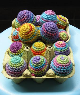 Crochet Easter Eggs : free crochet patterns: rainbow easter eggs make handmade, crochet ...