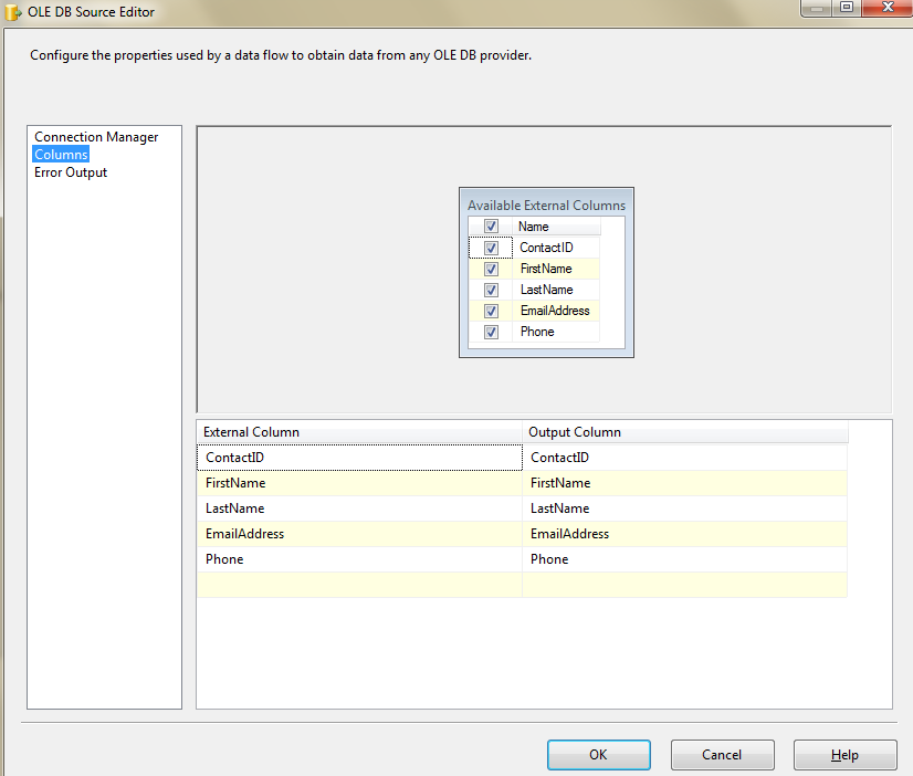 through each record in a SSIS in-memory ADO Recordset Table
