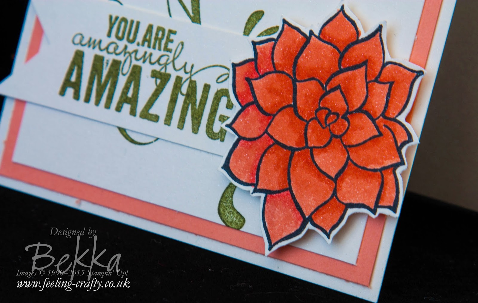 Colouring with Stampin' Write Markers with a video tutorial by Stampin' Up! UK Independent Demonstrator Bekka Prideaux