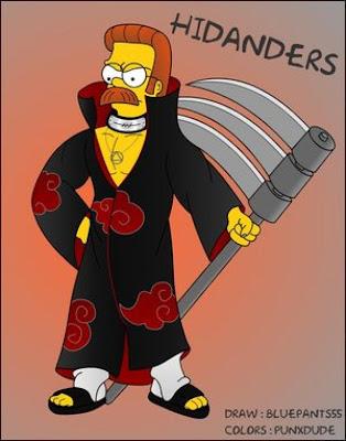 Ned Flanders al estilo Naruto