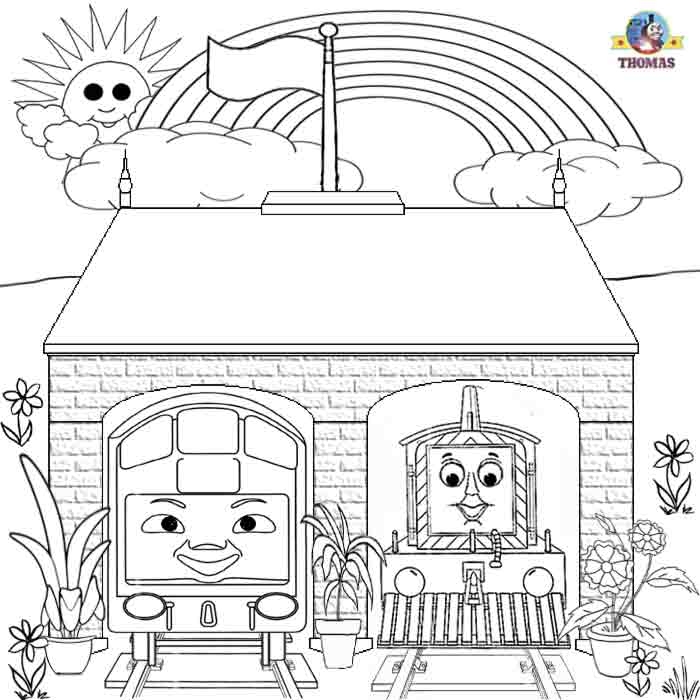 Thomas Coloring Book Pages For Kids Printable Picture Worksheets