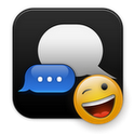 Go Sms Pro Dark blue iPhone Themes Apk