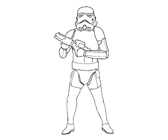 #3 Star Wars Coloring Page
