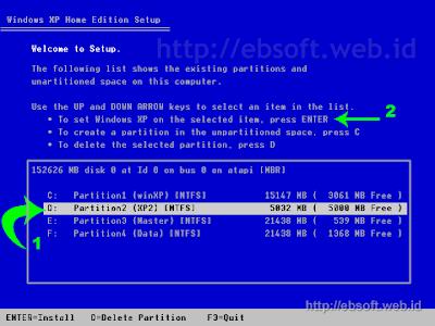 Windows Setup Select Part