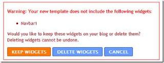 excluindo widgets navbar