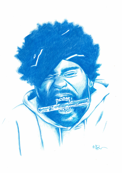 daily beautiful illustrations   42   hip hop portrait sketches illustration by  mark 563