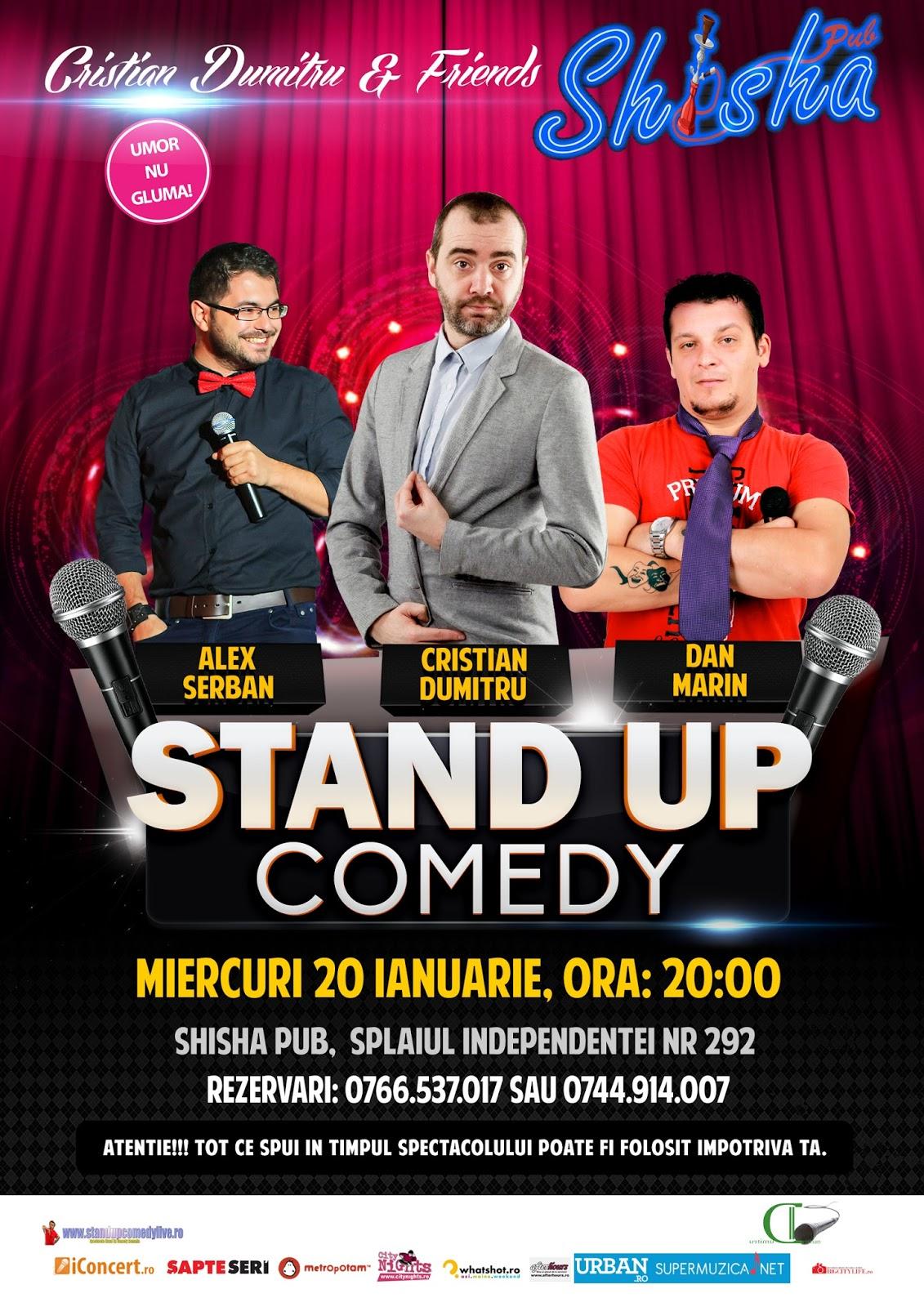 Stand-Up Comedy Miercuri 20 Ianuarie Bucuresti