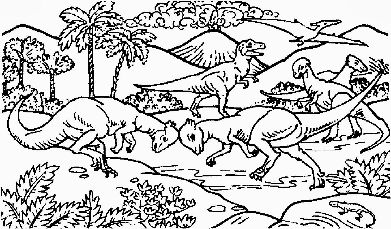 Playmobil Dinosaurier Ausmalbilder : Sch N Dinosaurier Und Vulkan Malvorlagen Galerie Framing