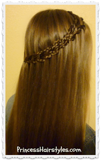 scissor waterfall using micro braids tutorial