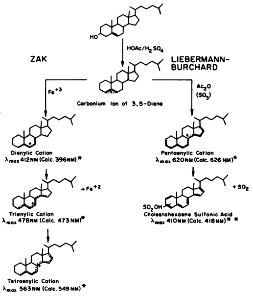 liebermann-burchard reaction for steroids