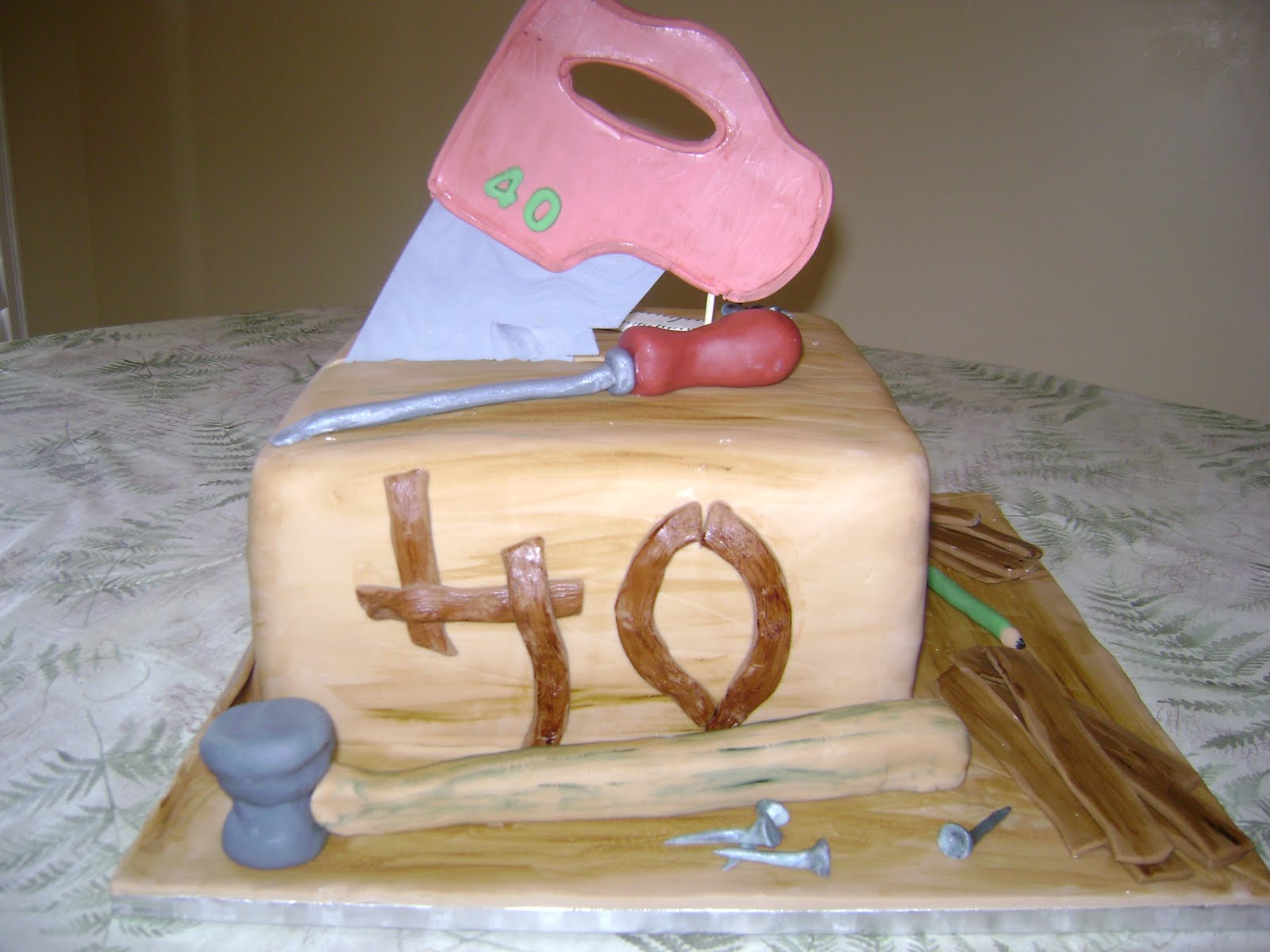 Marymel Cakes Construction Carpenters 40th Birthday