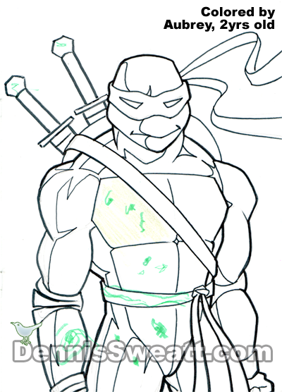 Coloring book Ninja Turtle