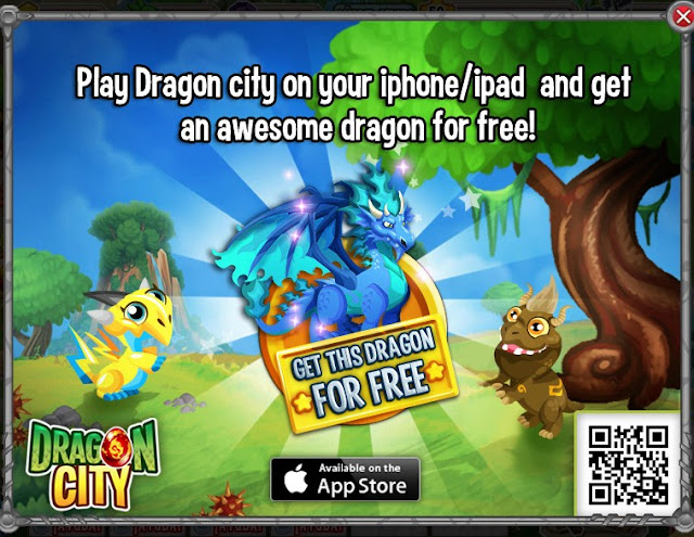 gratis dragon fuego fresquito por instalar Dragon City en Iphone