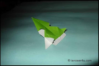 completed origami paper airplane