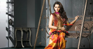 Bhavana models for Latest Saree Designs for Pulimiitil Silks HQ Pics