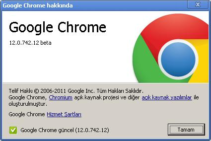 Google Chrome 12.0.742.12 Beta