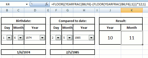 complete simple excel calculate date with excel form