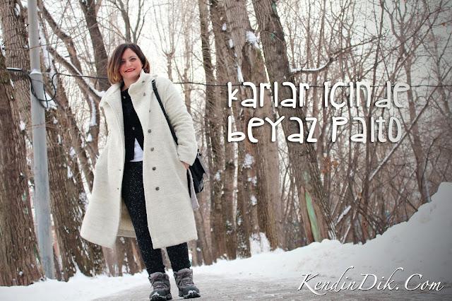 beyaz palto, kışlık, kış modası