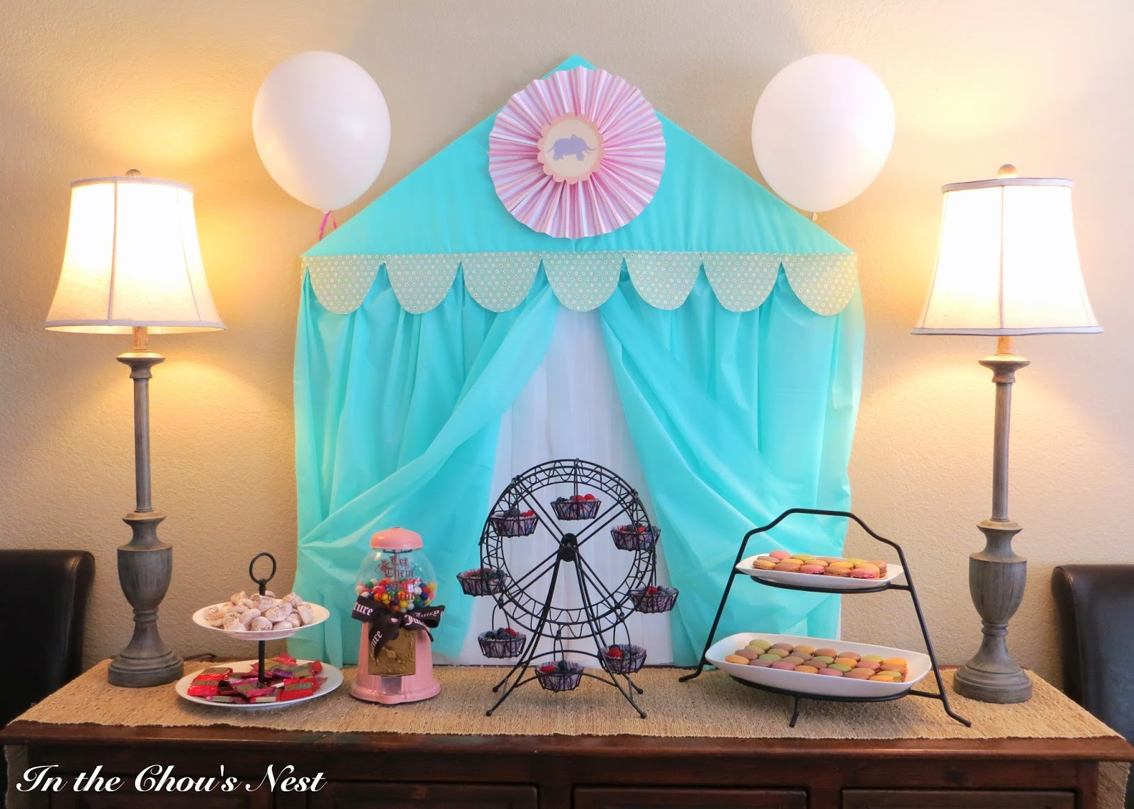 in the chou 39 s nest circus themed baby shower details