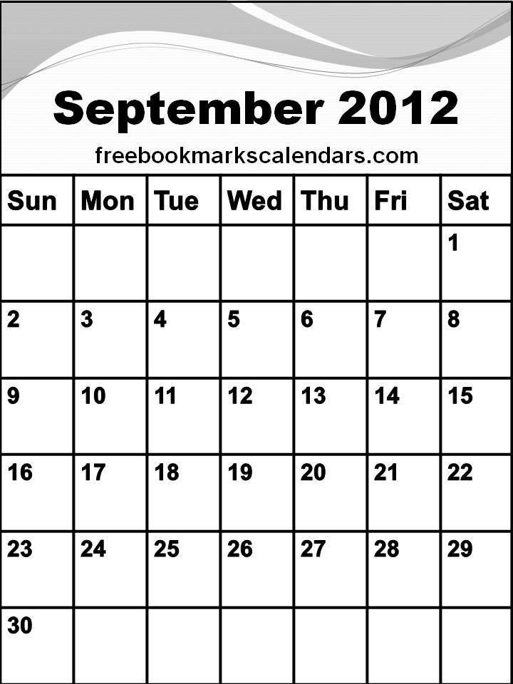 Printable Blank Monthly Calendar Template