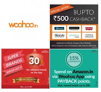 Woohoo Fashion Brands 30% CB & 10% CB on special brands & 15% CB on amazon GV with payback