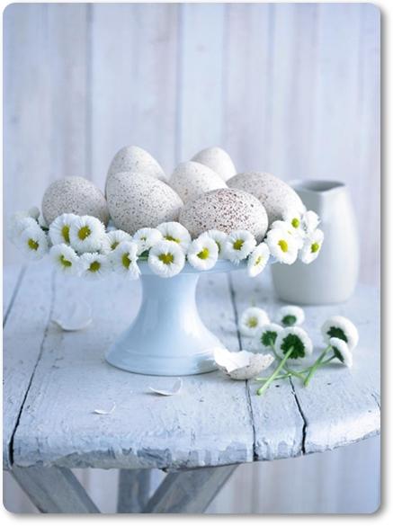 ägg för påskdukning, vit påsk