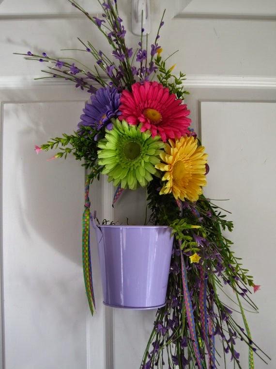 daisy pail eggs wreath