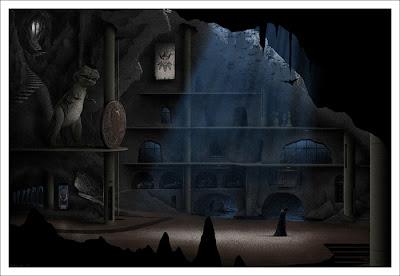 DC Comics x Mondo Screen Print Series - The Batcave by JC Richard