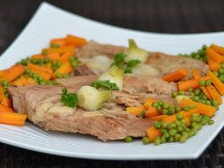 Tendrons de veau aux légumes confits