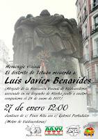 Homenaje vecinal a Luis Javier Benavides