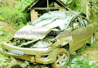 Accident, Car, Check-post, Rain, Kasaragod