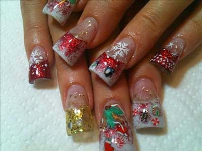 31 good Acrylic Nail Christmas Designs – slybury.com