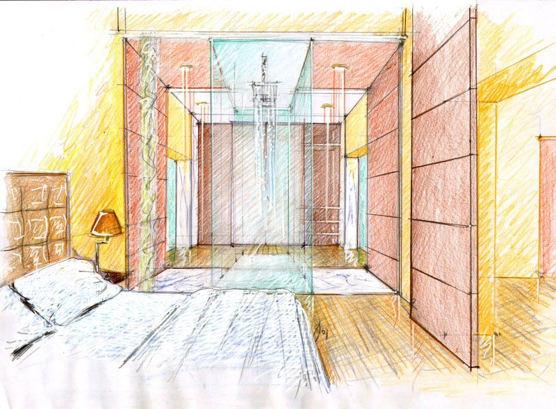 Vent 39 anni di disegni dell 39 arch antonio saporito novembre for Disegni di case in prospettiva